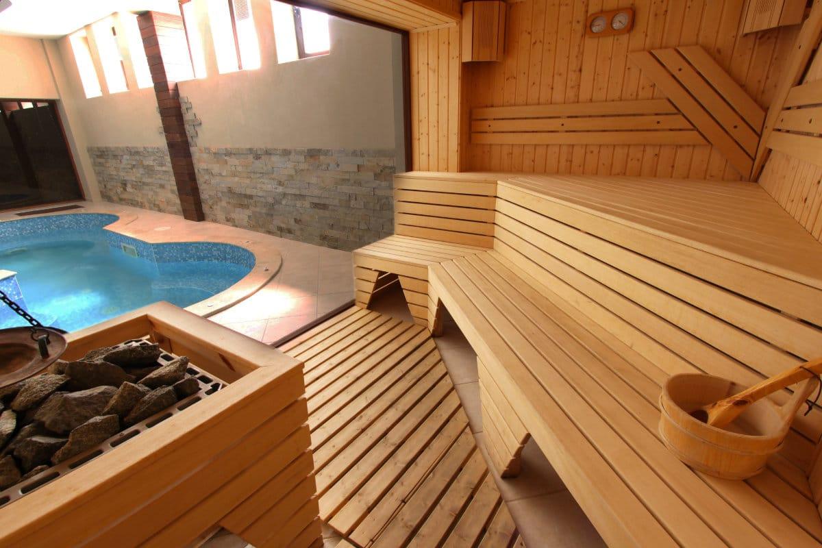 sauna tijdens wellness weekend